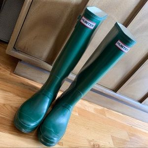Classic Green Hunter Rain Boots Wellies Sz 39/8